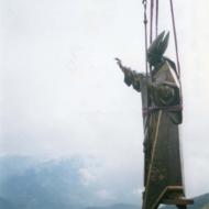 Volo dell'elicottero durante il trasporto